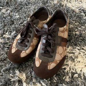 Coach Joss suede and canvas sneakers 6 1/2